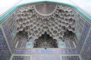 Author: Patrickringgen berg, WIkipedia Commons  Isfahan Royal Mosque - muqarnas