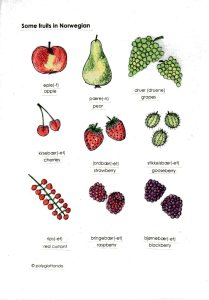 fruits norwegian