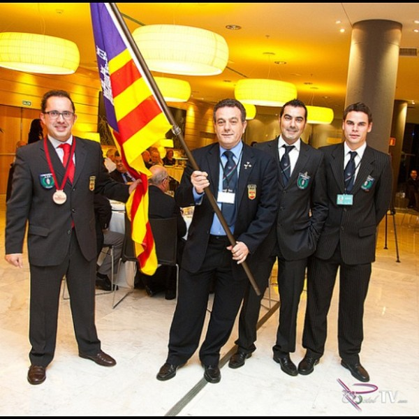 El equipo de Baleares compuesto por Barea, Felipe, Janko y Rafa con la medalla del Mundial