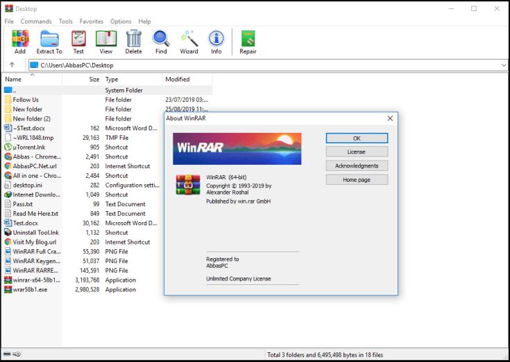 WinRAR License Key RARREG.KEY