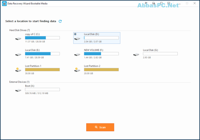 EaseUS Data Recovery Wizard WinPE Edition