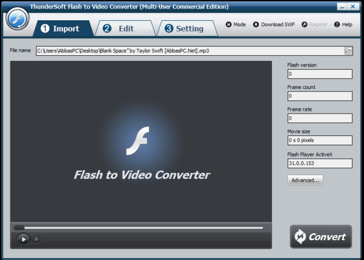 ThunderSoft Flash to Video Converter Registration Code