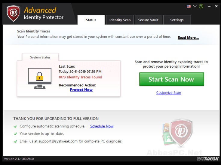 Advanced Identity Protector License Key Full Version