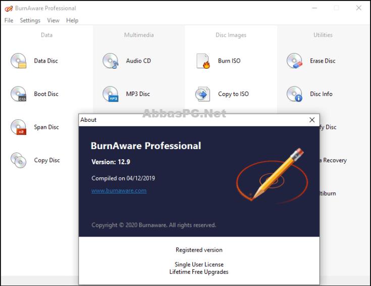 BurnAware Professional License Key Download