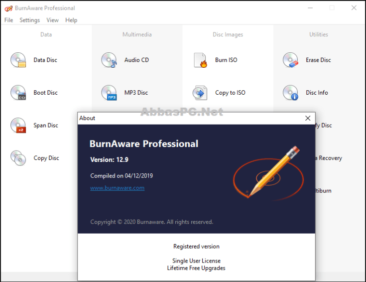 BurnAware Professional License Key Download