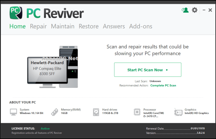 ReviverSoft PC Reviver Serial Key Download