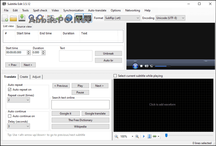 Subtitle Edit Full Version Download for Windows