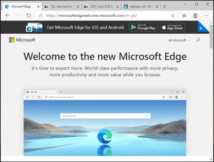 Microsoft Edge Offline Installer for Windows
