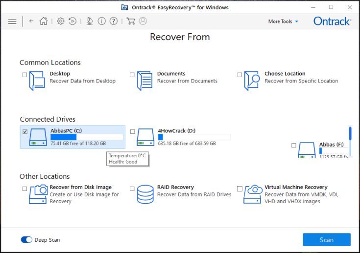 Ontrack EasyRecovery Toolkit for Windows Activation Key