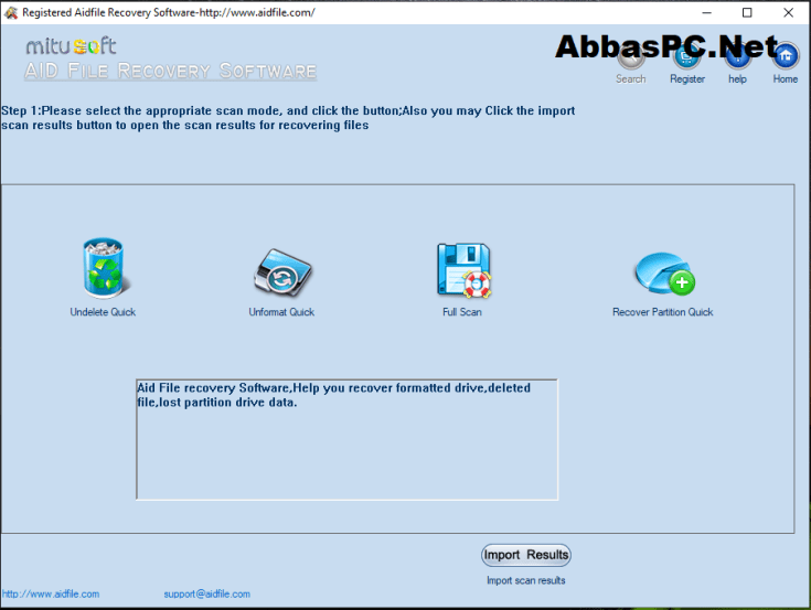 Aidfile Recovery Software Register Code Download