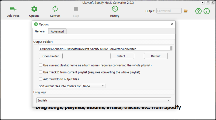 Ukeysoft Spotify Music Converter Registered for Windows