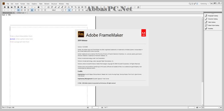 Adobe FrameMaker Free Download