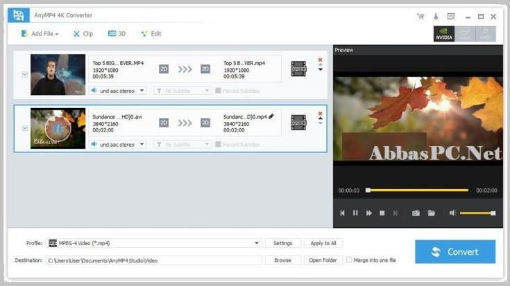 AnyMP4 4K Converter Free Download