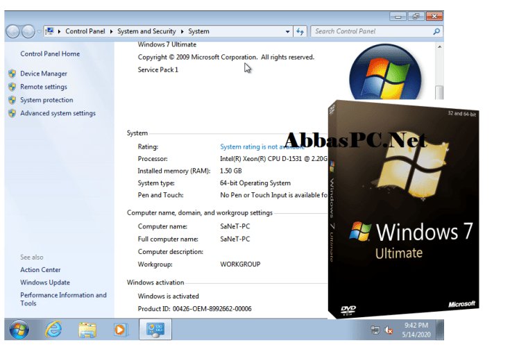 Windows 7 Ultimate Free Download pre-activated version