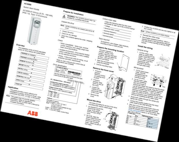 ABB Drive Tech Sheets