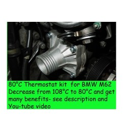 80c thermostat kit for bmw e39 540i e38 740i x5 z8 e52 m62 range rover 44 [ 1920 x 1080 Pixel ]