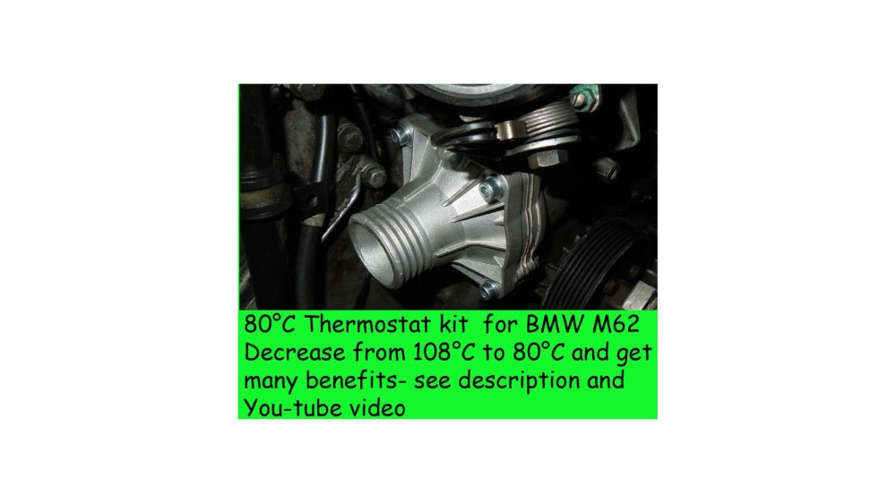 medium resolution of  80c thermostat kit for bmw e39 540i e38 740i x5 z8 e52 m62 range rover 44