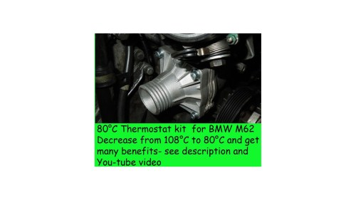 small resolution of  80c thermostat kit for bmw e39 540i e38 740i x5 z8 e52 m62 range rover 44