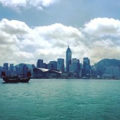 View of Hong Kong Island from Tsim Tsa Tsui