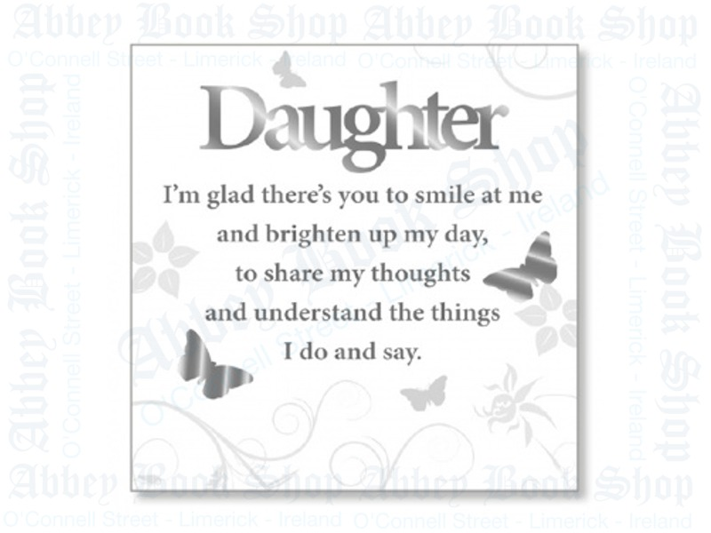 Block Art Wood Plaque – Daughter