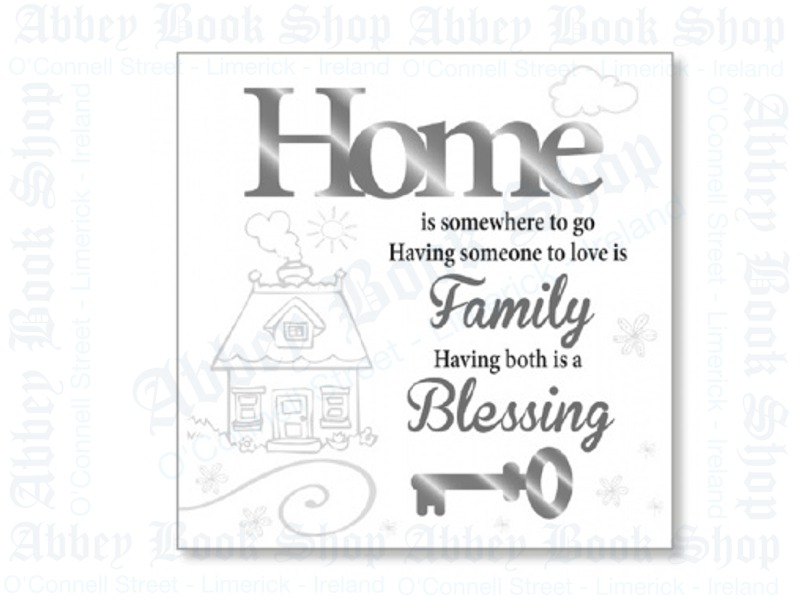 Block Art Wood Plaque – Home Blessing