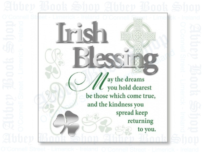 Block Art Wood Plaque – Irish Blessing