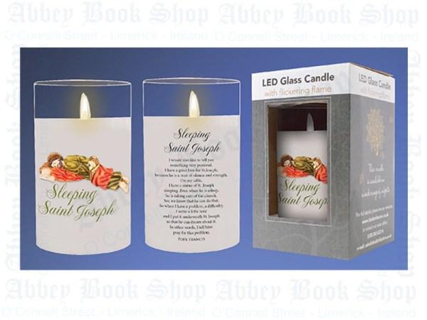 Sleeping-St-Joseph-LED-Candle