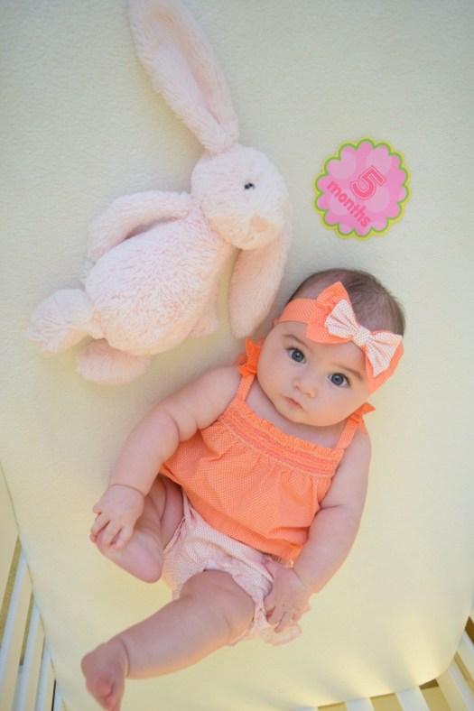 baby big eyes 5 month milestone