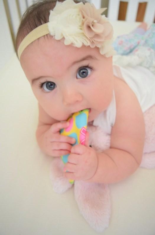 Cutest baby milestone pictures big eyes blue eyes
