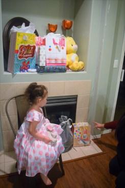 birthday girl white and pink polka dot dress