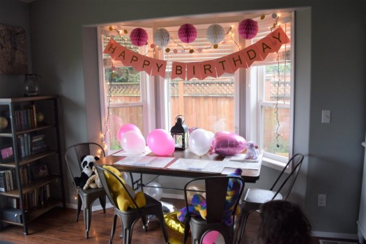 polka dot party morning surprise
