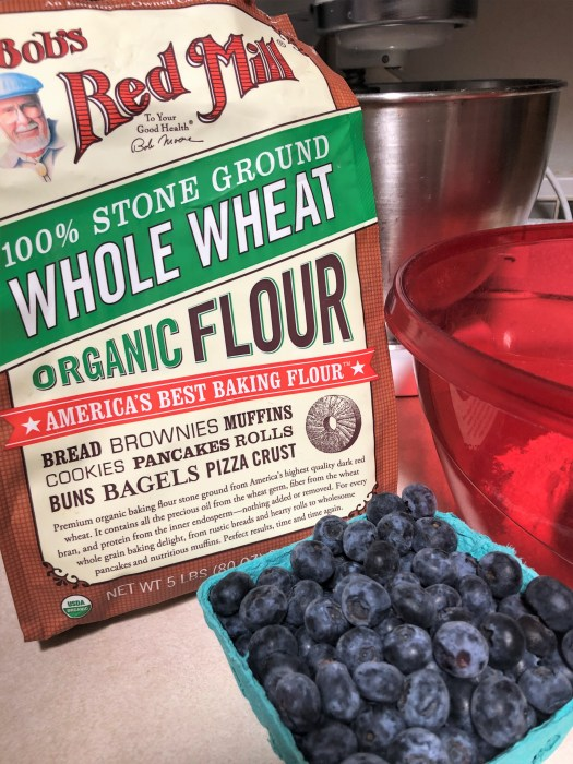 Blueberry pancakes bobs red mill wheat flour