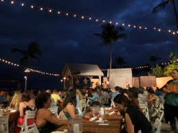How pretty is this evening outdoors at the Island Breeze Luau