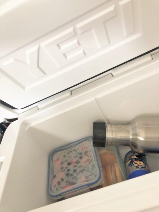 Yeti cooler packed sustainable