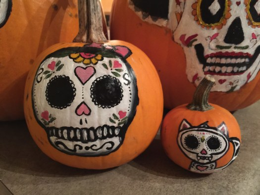 Halloween sugarskull pumpkin 11