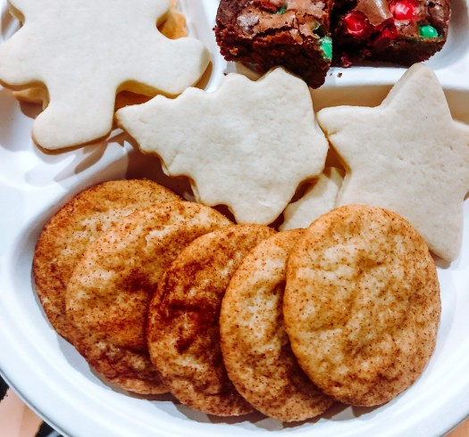 Christmas cookie plate snickerdoodle cut outs