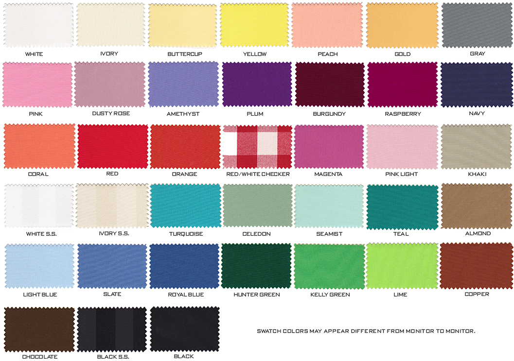 chair covers and tablecloth rentals folding adirondack rocking plans table linen color chart | brokeasshome.com