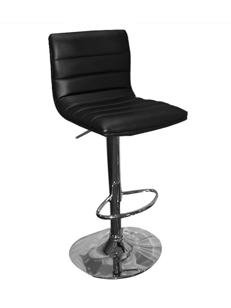 Upholstered Bar Chairs Black Upholstered Bar Stool