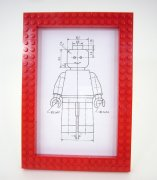 Red Brick Frame, 5x7 1