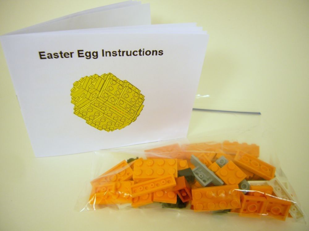 Eggs Building Toys For Boys : Toy brick easter egg building kit
