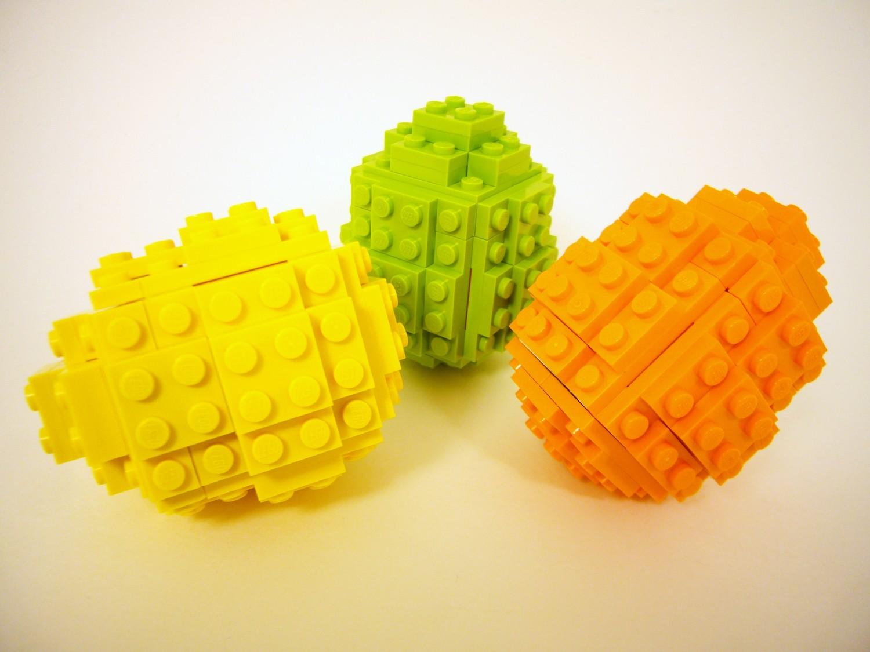 Eggs Building Toys For Boys : Toy brick easter egg building kit