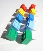 Toy Brick Thumb Tacks, set of 10 1