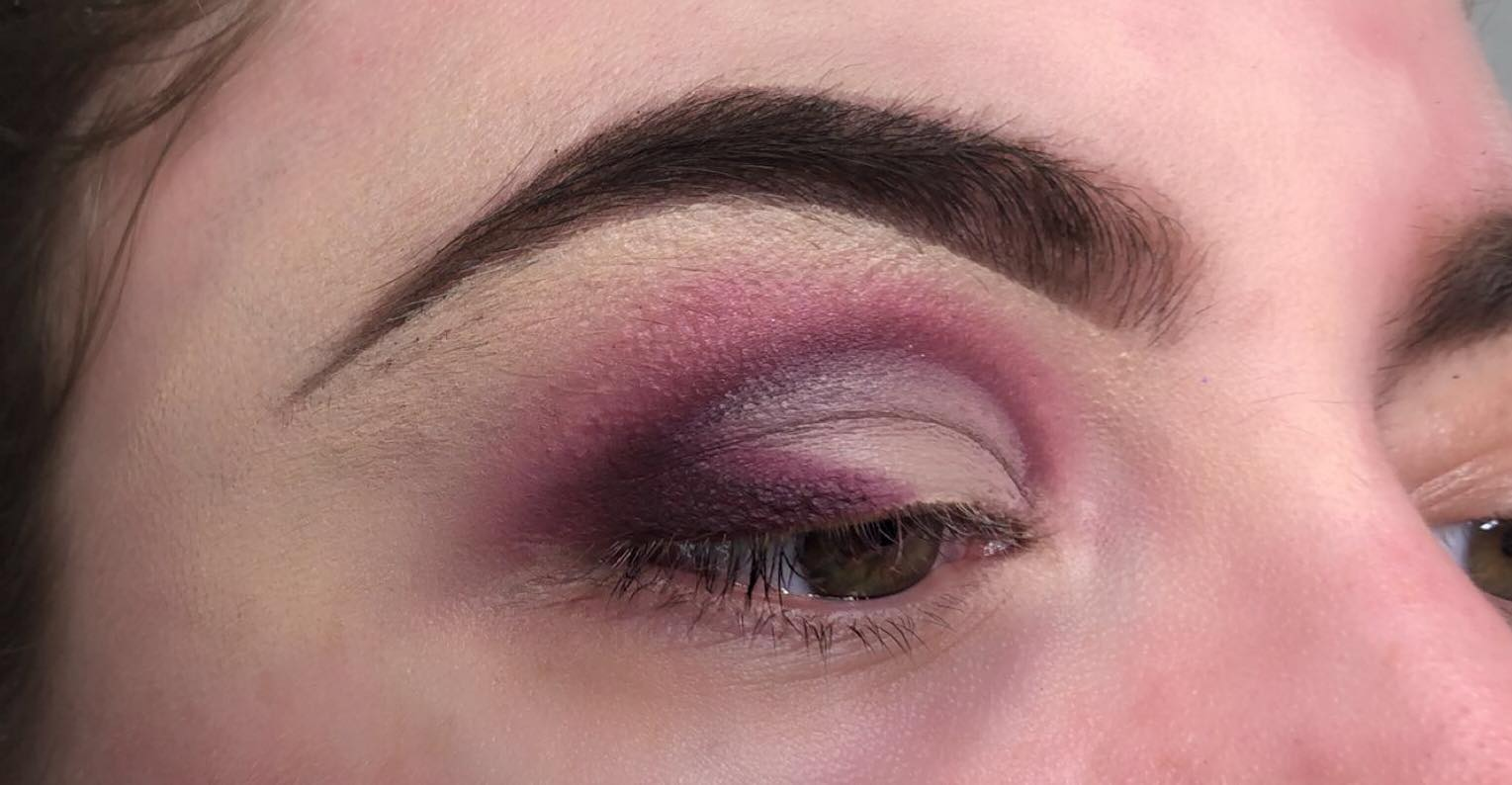 Sparkly Cut Crease Makeup Tutorial - Step 6 - Packing with a Lighter Purple