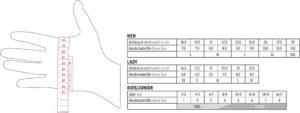 misura guanti invernali secondo metodo