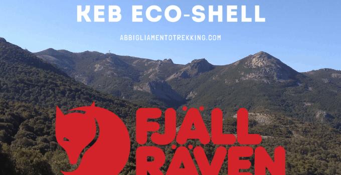 giacca eco-shell fjallraven sfondo montiferru cuglieri