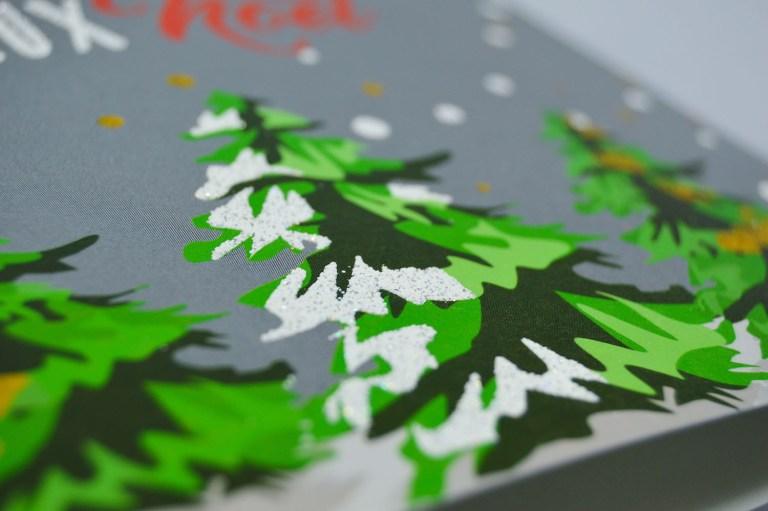 snow raise Christmas trees