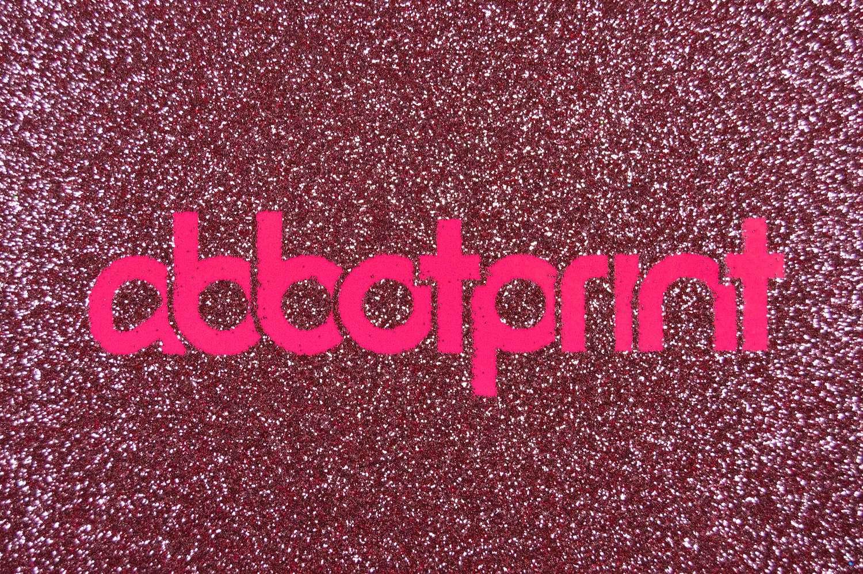 abbot print glitter logo