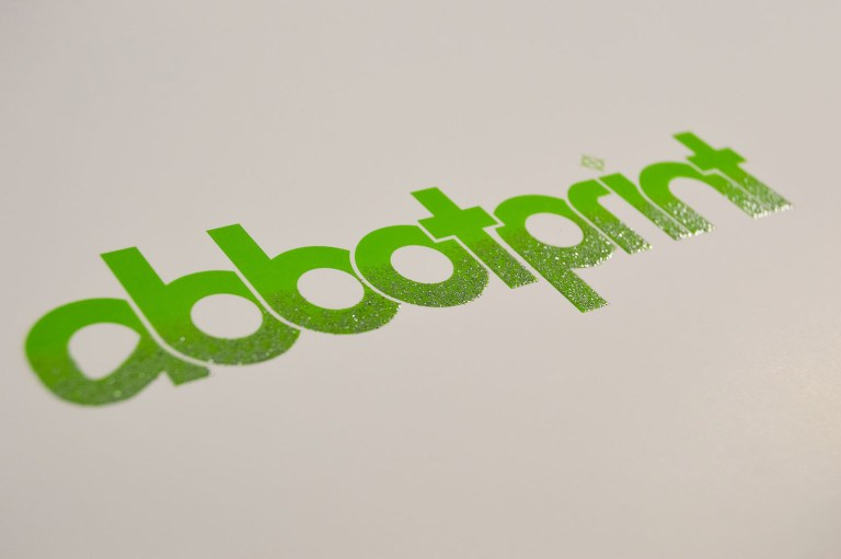 blended glitter abbotprint logo