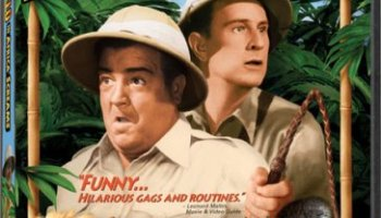 "Abbott and Costello in Africa Screams - first time in color - also includes restored original black and white version - ""funny ... hilarious gags and routines"""