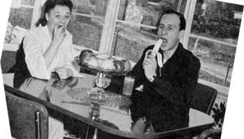 Betty and Bud Abbott eating
